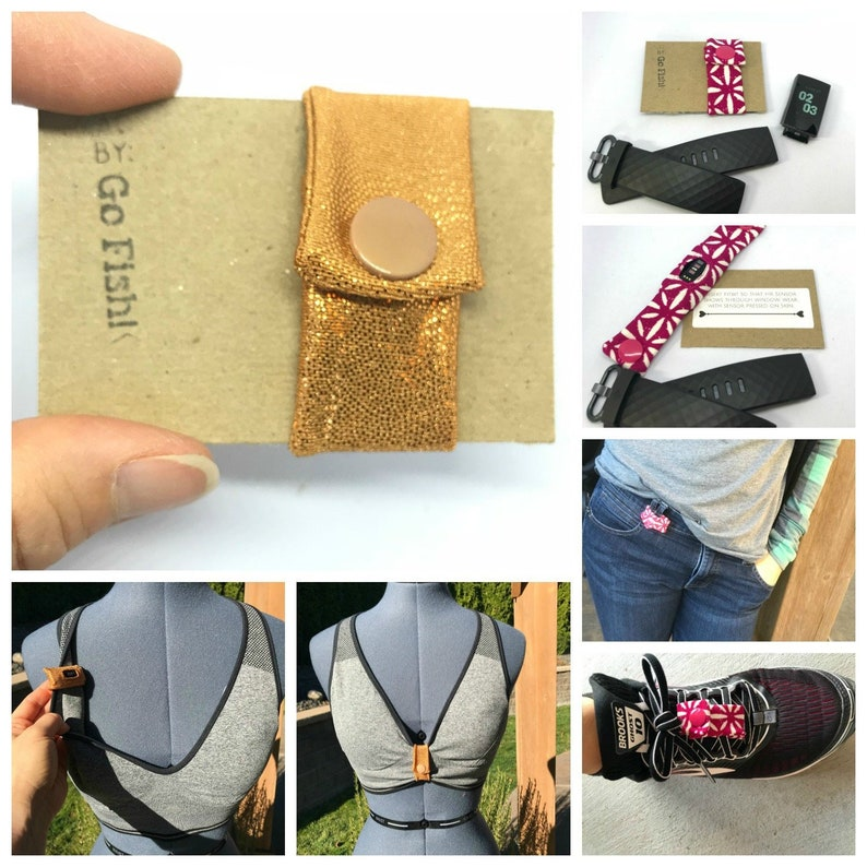 Fitbit Charge 3 Bra, Custom band for Charge 3 Bra Strap, Belt Loop or Shoe  Lace, custom made to order
