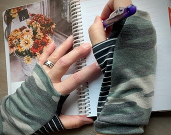 """Wrist warmers, fingerless gloves, """"style #3"""" ready-to-ship, custom available"""