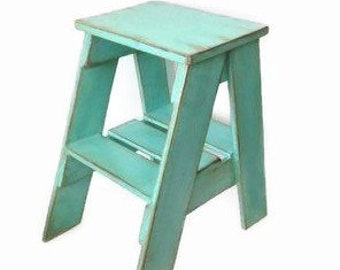 Rustic Wood Step Stool, Free Shipping, Custom Painted Step Stool, Bedroom  Side Table, Kitchen Stool, Childs Step Stool, Wooden Step Stool
