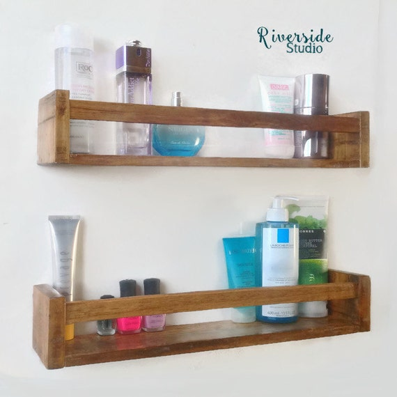 Wooden Shelves For Bathroom: Wood Floating Shelf Bathroom Shelves Gallery Shelves