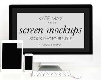 Download Free Simple White Tech Mockups Styled Stock Photo / Product Mockup / 19 Styled Stock Photography / KateMaxStock Photography PSD Template
