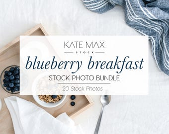 Modern Neutral Breakfast Stock Photo Bundle / Styled Stock Photos / 18 KateMaxStock Lifestyle Branding Images for Your Business