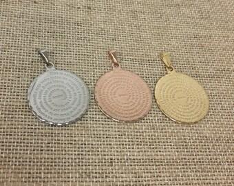 6 PCS padre nuestro, oración del padre nuestro, lord prayer pendant, 25mm diameter.