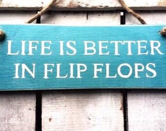 663d9c00b Life Is Better In Flip Flops. Wood Sign. Beach House Decor. Beach House  Sign Beach Sign Beach Art Surf Sign Surf Art Coastal Decor