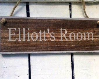 Boys Bedroom Sign Girls Name Personalised Kids Door Wood