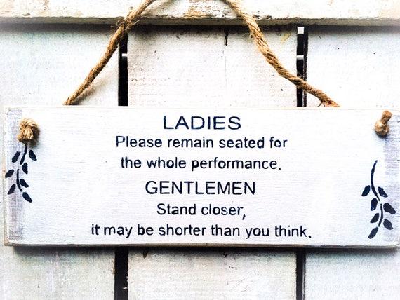 Lustige Schild Toilette Zeichen Lustige Schild Aus Holz Etsy