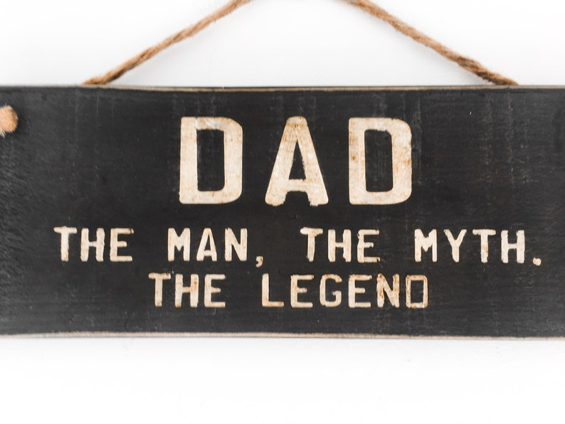 PAPA The Man The Myth The Legend wood hanging sign rustic home decore cottage