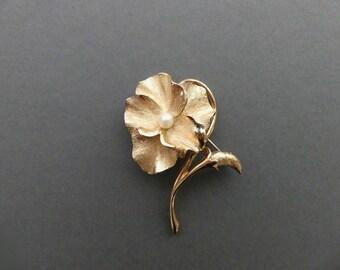 VINTAGE  MILLINERY LEAVES Pomagranite Bronze Japan 1940