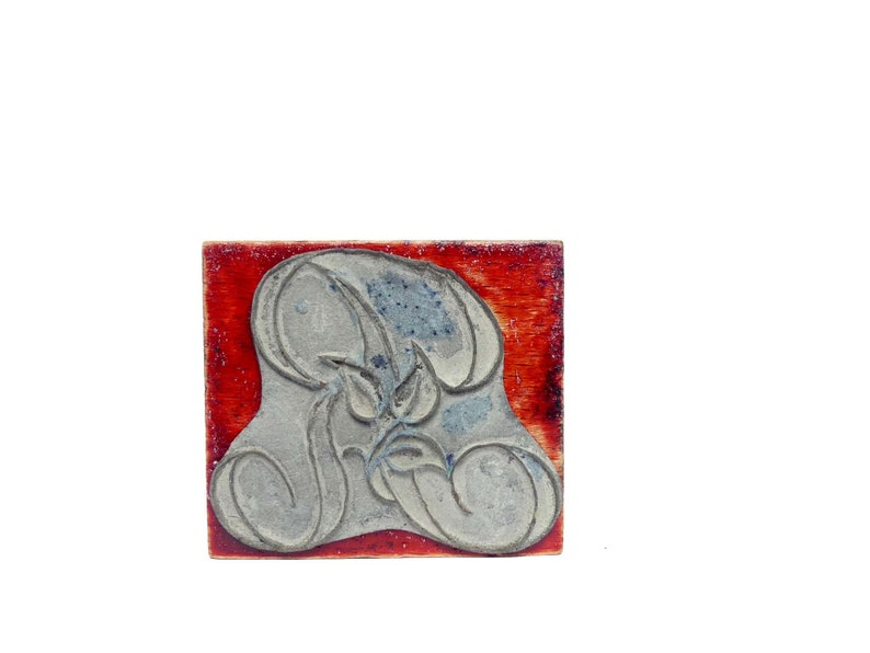 Stamps embroidery letters R and L ancient Monogram initial marking old linen Scrapbooking decorative wedding crafting
