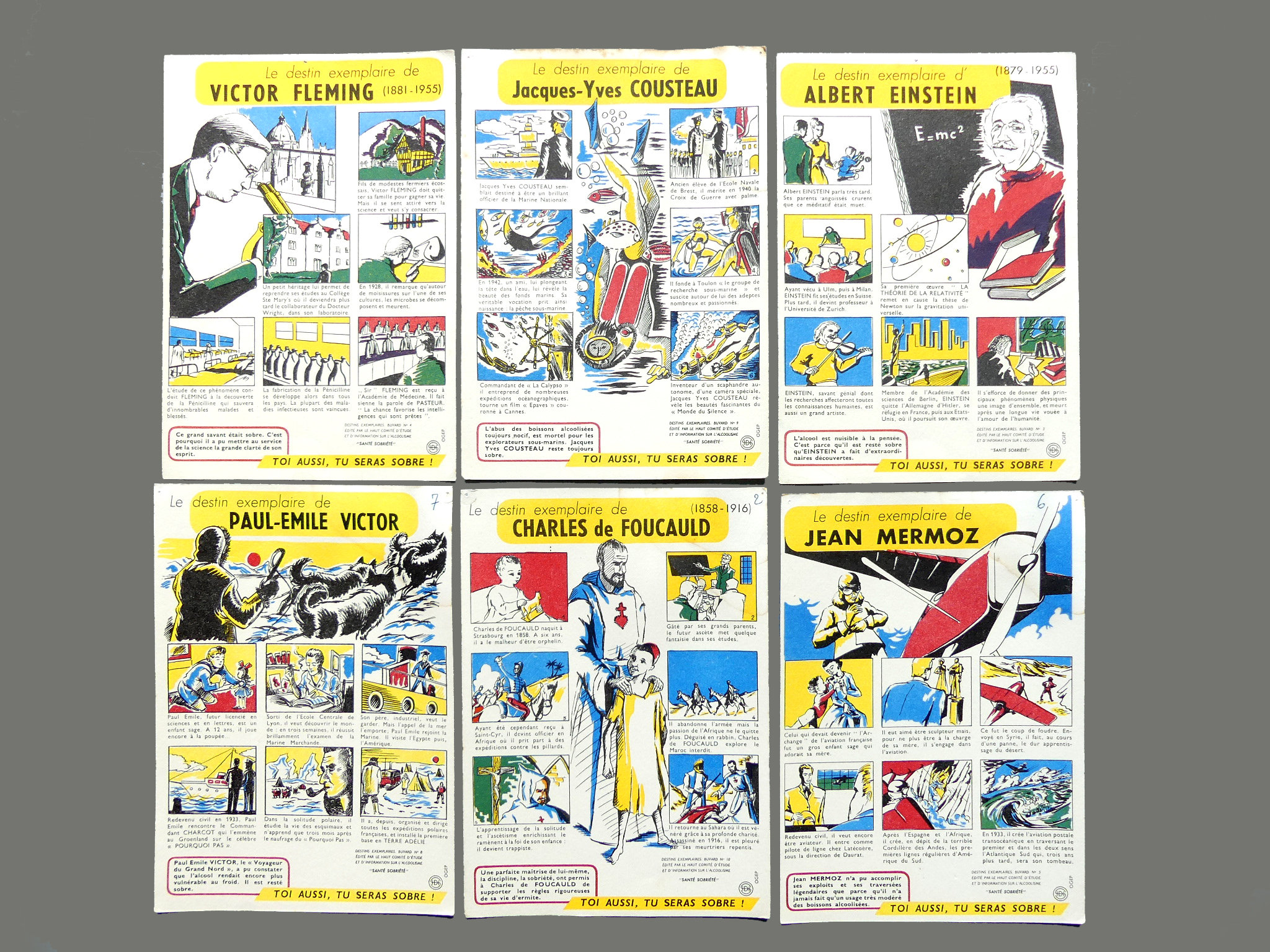 fffb0394079 Set cards blotters of ink vintage french collection of 1950
