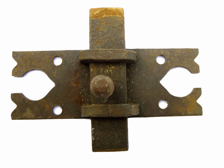 Antique barn door latch lock vintage rustic wrought iron ...