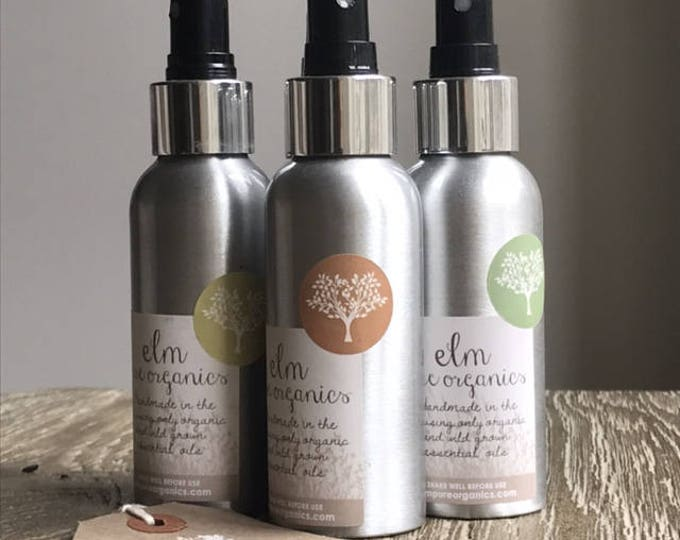 Organic Room Spray Home Fragrance Lemongrass, Black Pepper Basil Essential Oils, Pillow Mist Eco friendly. Linen Spray, Home mist, self care