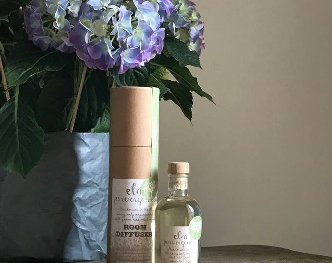 Lemanja Organic Reed Diffuser. Organic Essential Oils, Lemongrass, Eco friendly. eco gift, organic gift, home spa, oil diffuser