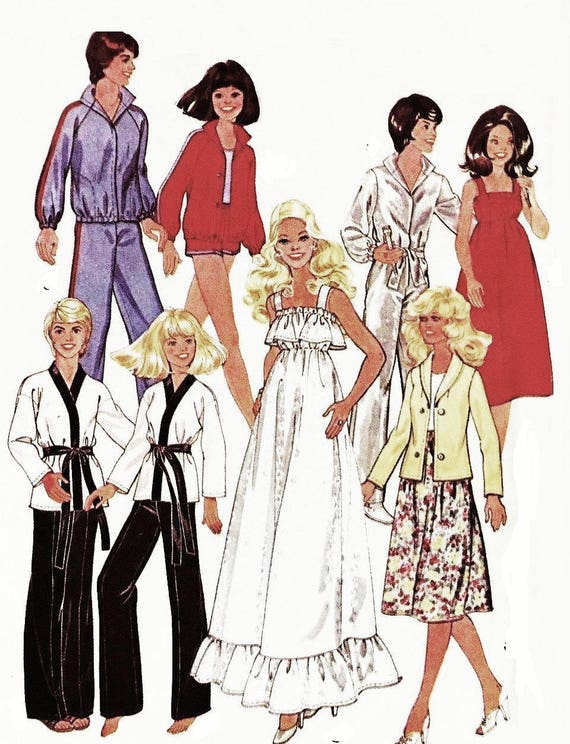 dolls clothes sewing pattern pdf tuesday etsy Disco 1970s image