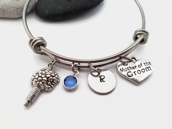 mother of the groom bangle mother of the groom bracelet personalized bridal bracelet bridal jewelry gift gift for mother in law