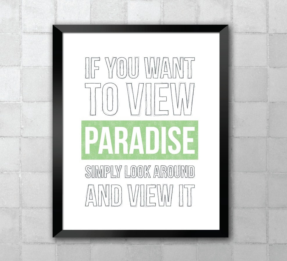 Paradise Willy Wonka Song Lyric Quote 8x10 11x14 Typography Etsy