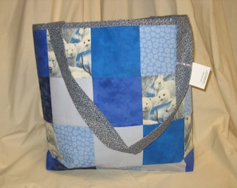 Large Patchwork Tote Bag