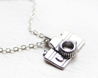 Camera Necklace - Photographer Charm Necklace - Mini Photographer Photo Photography Charm Necklace Pendant