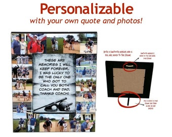 Coach Dad Gift \ Dad Picture Frame \ Thank you Dad \ Dad and Coach \ Best Coach Dad \ Coach Daddy \ Coach Dad \ Father's Day Gift \