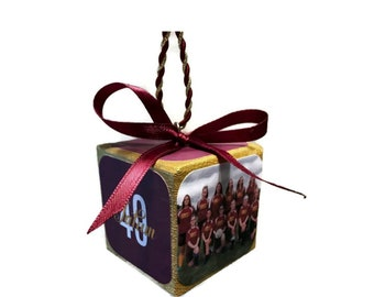 Senior Night Team Gift, Sports team gift, Team Photo Keepsake Block Ornament, Volleyball gift, Cheer Gift, Coach Gift, Soccer Gift Last game
