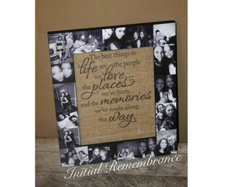 Best Friend Frame, best friend gift. Picture Frame Collage, Photo Frame, bachelorette party, Maid of Honor, Bridesmaid MOTHERS DAY Gift Mom