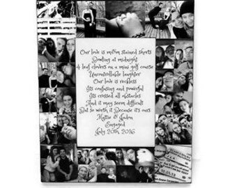 Boyfriend Girlfriend Valentine's Day gift for him I promise you Picture Frame Collage Photo Frame couple quote, gift for husband wife gift