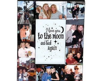 I love you to the moon and back gift, I love you frame, to the moon and back Frame, Mother's Day gift, Father's Day Gift Photo Frame College
