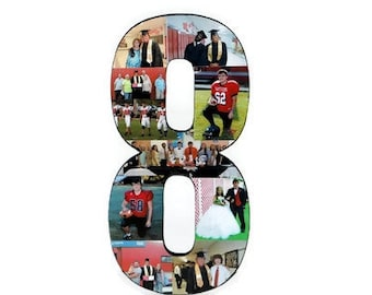 Graduation Photo Number Collage Jersey Number  Picture frame Children's Girlfriend College Sport Anniversary Birthday Senior night year 2016