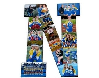 Cheer Senior Night | Senior Night Gift | Photo Collage | Letter N | Photo Collage frame | Photo Collage Gift | Initial Collage | Graduation