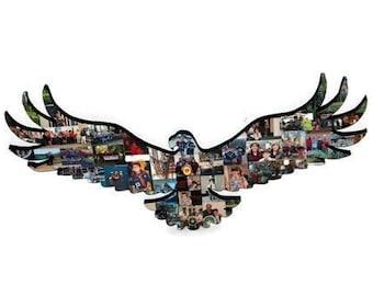Eagle shape cut out, Wooden Eagle, Eagle scout, fleur-de-lis with eagle, Eagle wood shape, Bird cut out, Bald Eagle, American icon,