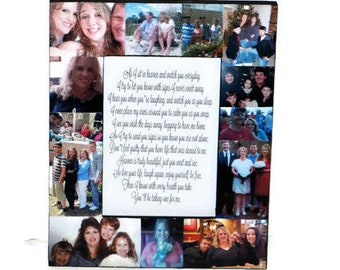 In loving Memory Frame, Sympathy Gift, In Memory of, someone we love Heaven, Personalized Message Frame, Guardian Angel Photo Collage Frame