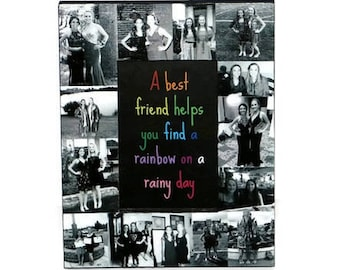 Best Friend Frame | Friendship Picture Frame | Best Friend Gift | Friendship Frames | Besties Frame | BFF Gift | Friends Forever | Rainbow