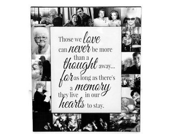 Memory Frame, Sympathy Gift, In Memory of, someone we love Heaven, Personalized Message Frame, Guardian Angel Photo Collage Frame IN MEMORY
