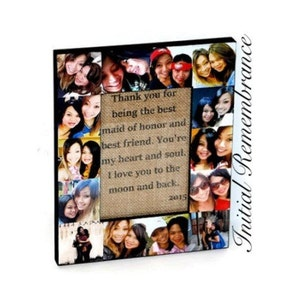 Custom Memory Box Sister Gift Personalized Photo Collage Keepsake Box Unique Birthday Maid of Honor Gift Best Friend Bridesmaid Gift