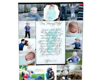 Baby's first year, Baby 1st year, Prayer for baby, Heavenly Father Prayer, Custom Photo Frame with personalized center