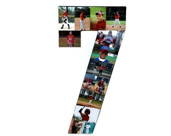 Photo Number Collage Picture frame Children's Girlfriend College Sport Wedding Anniversary Birthday Senior night year 2016 Jersey Number
