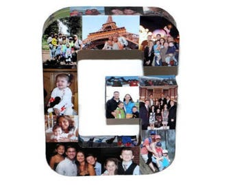 Custom Photo Collage letter Girlfriend Gift, Children's, College Dorm Room Wedding Birthday Picture Letter Personalized Monogram 3D Frame