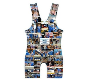 WRESTLING SINGLET photo collage, Dorm Room Decoration, Senior Awards, Wrestling Gifts, Coaches Gift, Wrestling Cut out, Graduation Prop
