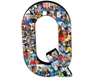 "Photo Collage Letter 3D 16"" Huge Photo letter collage Gift Picture Frame Children's College Dorm Room Wedding Birthday Initial Personalized"