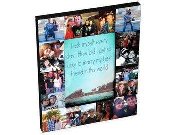 Photo Frame Collage, Picture Frame Personalized Best Friend, Sister Gift, Maid of Honor Picture Frame, Bridesmaid Frame, Bridal Shower Gift