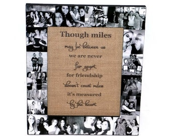 Birthday, Anniversary, Wedding, Engagement Personalized Message Photo Collage Picture Frame Distant Friendship Coach Team Gift Custom Photos