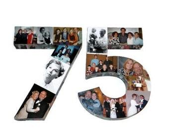 75th Birthday, 75th Birthday Decorations, 75th Birthday Gift, 75th Birthday Photo Decoration, 75th Gift Ideas, 75th Anniversary,