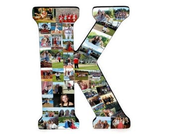 LETTER PHOTO collage | Photo collage Letter | Collage Letter | Letter K M R A