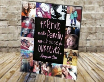 Friends are the family we choose for ourselves frame | Best Friend picture frame | Best Friend | best friend gift | best friend frame