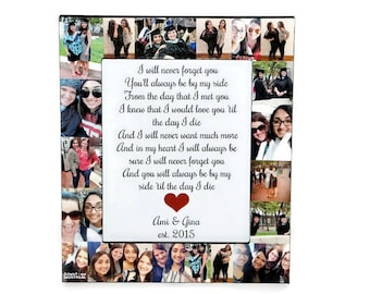 Best Friend Graduation, Childhood Friends, Moving away Gift, Going off to Collage Gift, Best Friend Gift, Congrats to my BFF Grad Frame