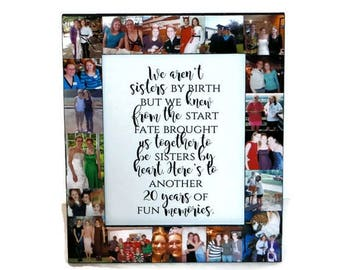 We weren't Sisters by Birth but Fate brought us together Frame | My sister My Best Friend Frame | Gift for my Sister | Best Friend Gift