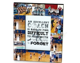 Basketball coach Frame Basketball Coach Thank you Gift An excellent coach is hard to find, difficult to part with and impossible to forget