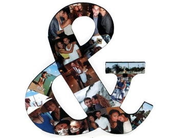 "Ampersand 13"" Photo Collage Girlfriend Boyfriend graduation Wedding Birthday Anniversary Engagement Best Friend picture frame awards"