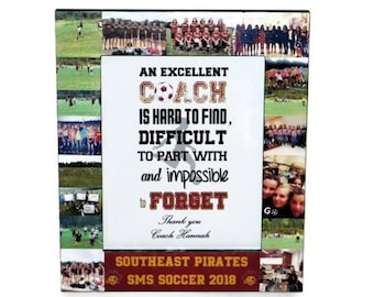 Soccer coach Gift, Thank you Coach Frame, Senior Night Gift, Last Game Gift,  Team Coaches Gift, Team Gift, Fall Sports,  Team Mom Gift