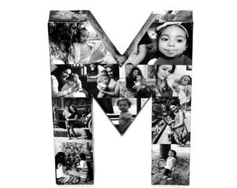 Letter M Letter H | Photo Collage | Birthday Gift for Her | Birthday Gift for Him | Anniversary gift for my wife husband | Letter Collage